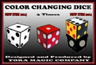Triple Colour Changing Dice by Tora Magic
